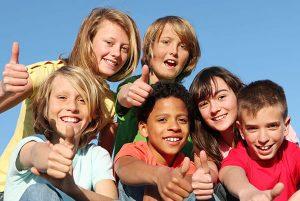 Cute Smiles 4 Kids San Antonio Children's Dentist Best Kid's Dentist Office Group of Kids Smiling